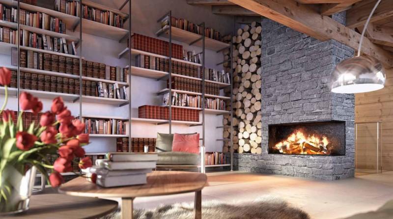krb s knihovnou ve švýcarském bydlení