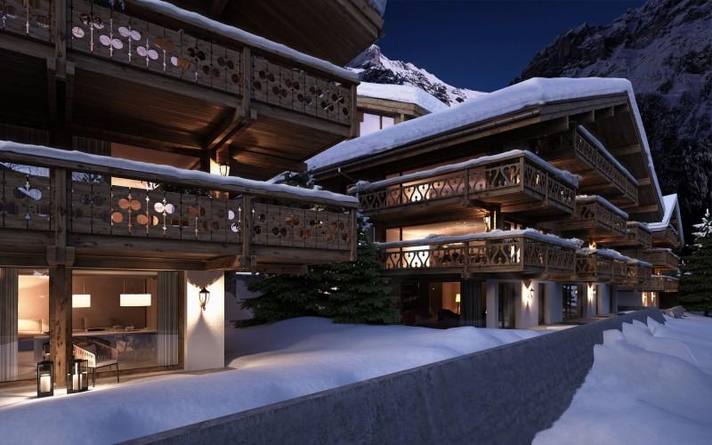 horské bydlení zima