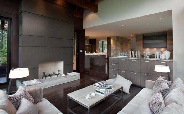 Horská dřevostavba, bydlení