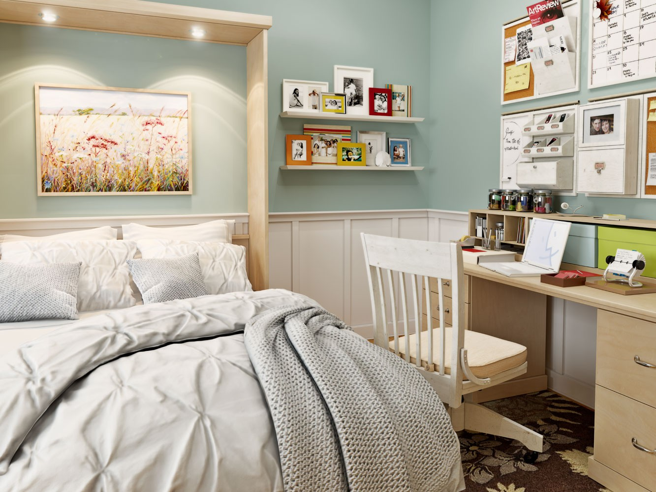 postele na stěnu