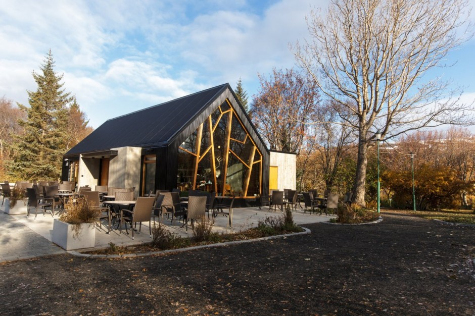 kavárna v botanické zahradě