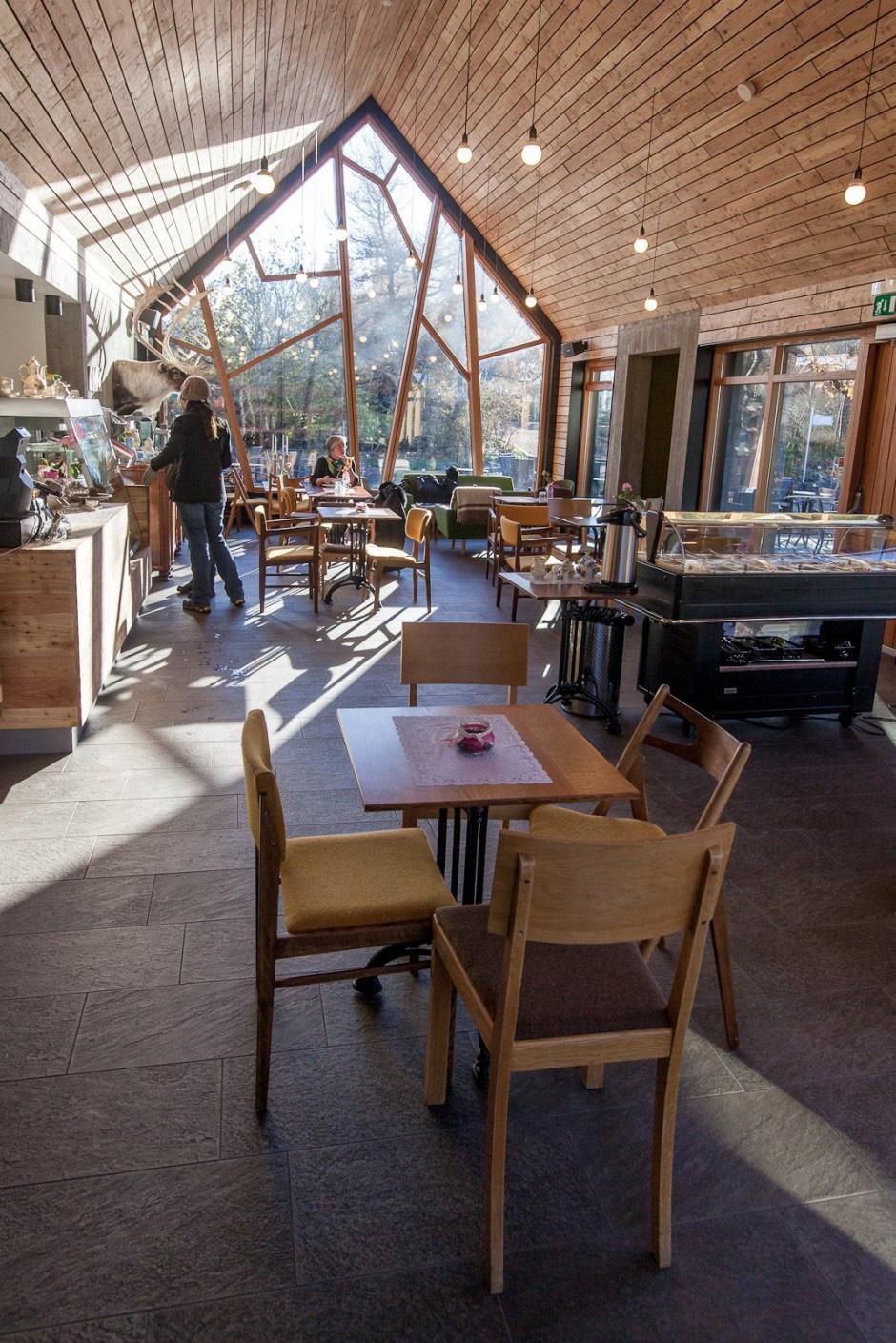 kavárně v botanické zahradě