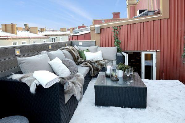 Balkony ve skandinávském stylu