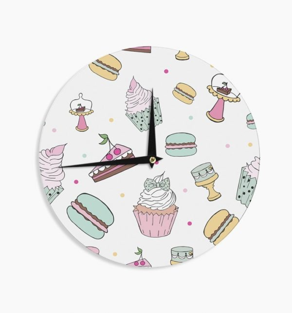 sweet-treats-painted-wood-small-kitchen-clocks-600x643